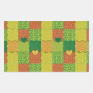 Patchwork Rectangular Sticker