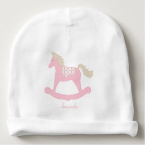Patchwork Rocking Horse | Personalized Baby Beanie