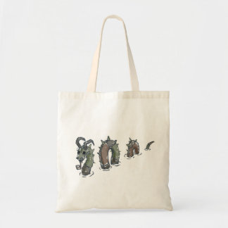 Patchwork sea serpent,canvas tote bag