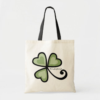 Patchwork Shamrock Hearts Canvas Bags