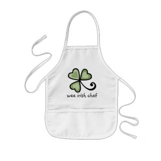 Patchwork Shamrock Hearts Kids' Apron