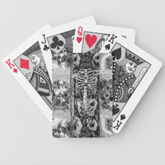 Patchwork, skull collage bicycle playing cards