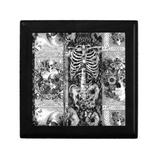 Patchwork, skull collage keepsake box