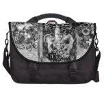 Patchwork, skull collage laptop commuter bag