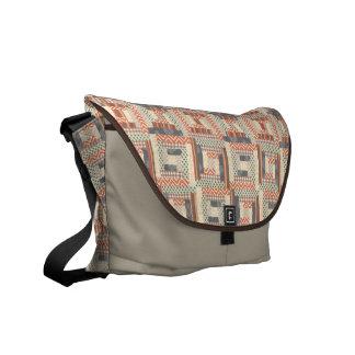 Patchwork Squares Courier Bag