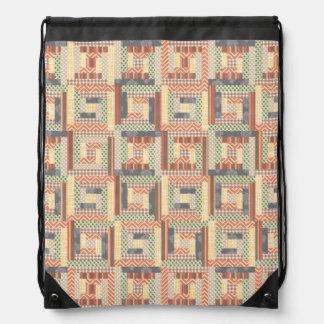 Patchwork Squares Cinch Bags