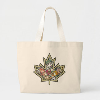 Patchwork Stitched Maple Leaf  4 Canvas Bags