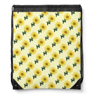 Beach Themed Patchwork Sunflower Drawstring Backpack
