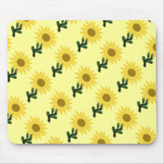 Patchwork Sunflower Tiled Mousepad Mouse Pad