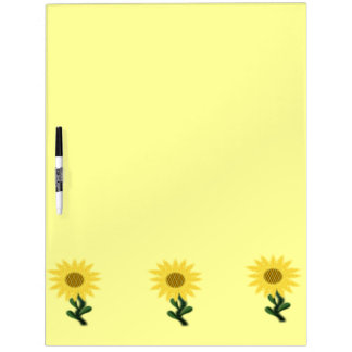 Patchwork Sunflowers Large Dry Erase Board