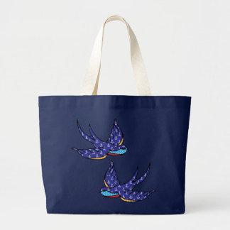 patchwork swallows bag