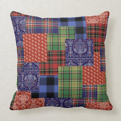 How To Make A Patchwork Throw Pillow :
