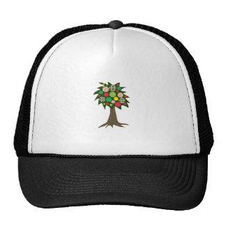Patchwork Tree Trucker Hat