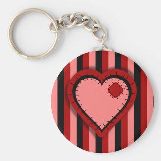 Patchwork Valentine Key Chains