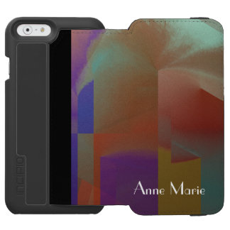 Patchwork w Customizable Text iPhone 6/6s Wallet Case