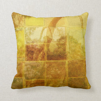 Patchwork Window Throw Pillow