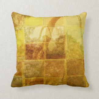 Patchwork Window Throw Pillow