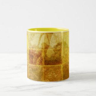 Patchwork Window Two-Tone Coffee Mug