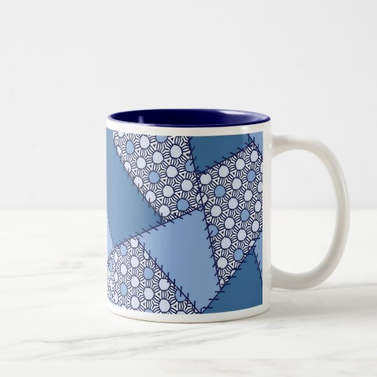 Patchwork With Stitching - 08 Two-Tone Coffee Mug