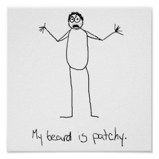 Patchy Beard Poster