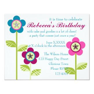 Patchy Button Garden Card