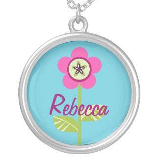 Patchy Button Garden Round Pendant Necklace