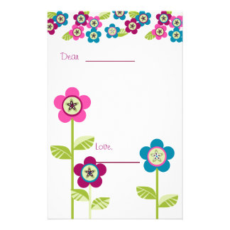 Patchy Button Garden Stationery