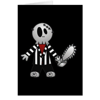 PATCHY CHAINSAW HALLOWEEN SKELETON CARD