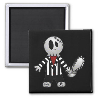 PATCHY CHAINSAW HALLOWEEN SKELETON MAGNETS