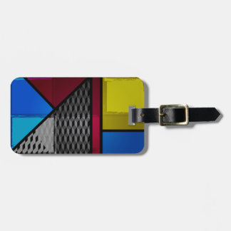 Patchy Colors Luggage Tag