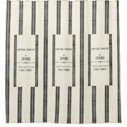 Patchy French Grain Sack SHOWER CURTAIN
