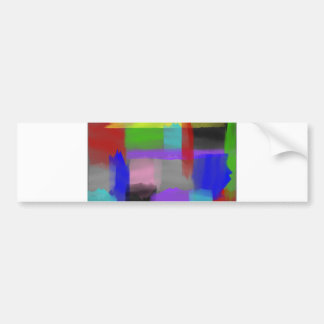 Patchy Painted Brushstrokes Bumper Sticker
