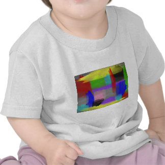 Patchy Painted Brushstrokes T Shirts