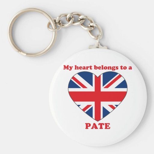 Pate Basic Round Button Keychain