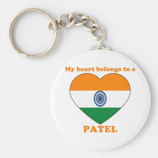 Patel Basic Round Button Keychain