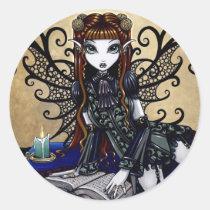 myka, jelina, gothic, fantasy, original, art, products, fairytale, dark fairies, Sticker with custom graphic design