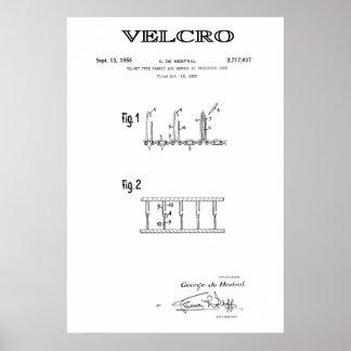 PATENT ART for VELCRO 1955 Poster