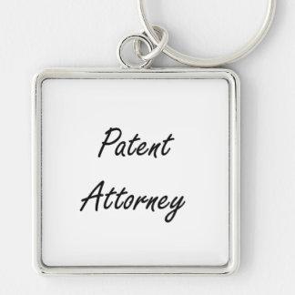 Patent Attorney Artistic Job Design Silver-Colored Square Keychain