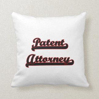 Patent Attorney Classic Job Design Pillow