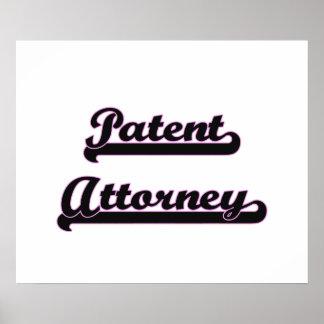 Patent Attorney Classic Job Design Poster