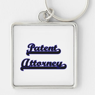 Patent Attorney Classic Job Design Silver-Colored Square Keychain