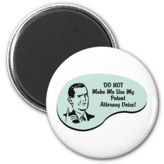Patent Attorney Voice 2 Inch Round Magnet