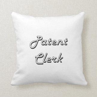 Patent Clerk Classic Job Design Throw Pillows