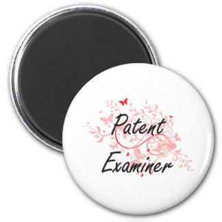 Patent Examiner Artistic Job Design with Butterfli 2 Inch Round Magnet