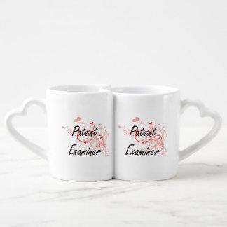 Patent Examiner Artistic Job Design with Hearts Couples' Coffee Mug Set
