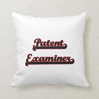 Patent Examiner Classic Job Design Throw Pillows