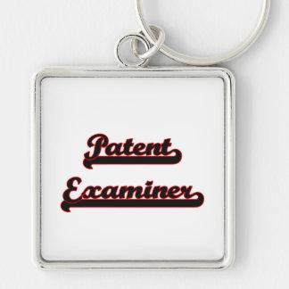 Patent Examiner Classic Job Design Silver-Colored Square Keychain