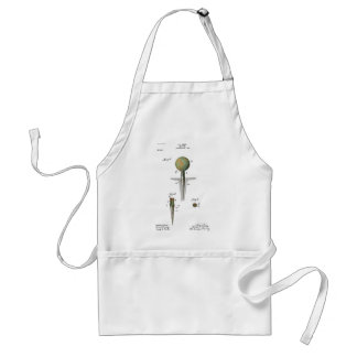 Patent Golf Ball on Tee Adult Apron