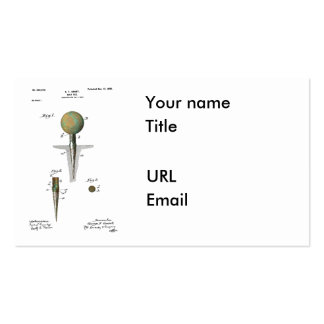 Patent Golf Ball on Tee Business Card