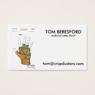 PATENT GOLF GLOVE 1953 - Business Cards